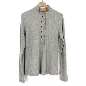 Tory Burch Long Sleeve Lidia Polo Size XL